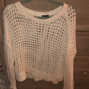 Express white knitted sweater